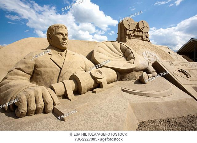 Sand sculpture in Lappeenranta Hiekkalinna, summer 2014