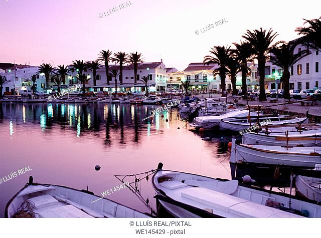 Port of Fornells. Minorca. Balearic Islands. Spain