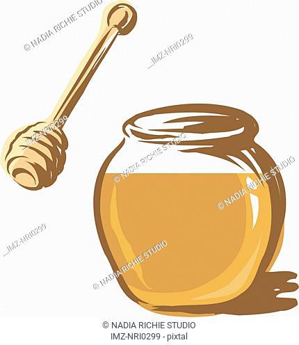 A jar of honey