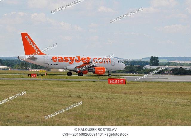 Airbus A319 EasyJet Prague, Czech Republic, 2016. (CTK Photo/Rostislav Kalousek)