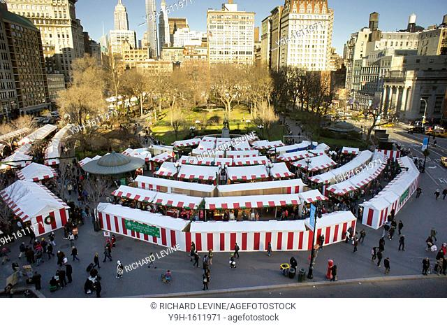 The Union Square Holiday Market in New York Over 100 merchants participated in the annual market, in it's 18th year