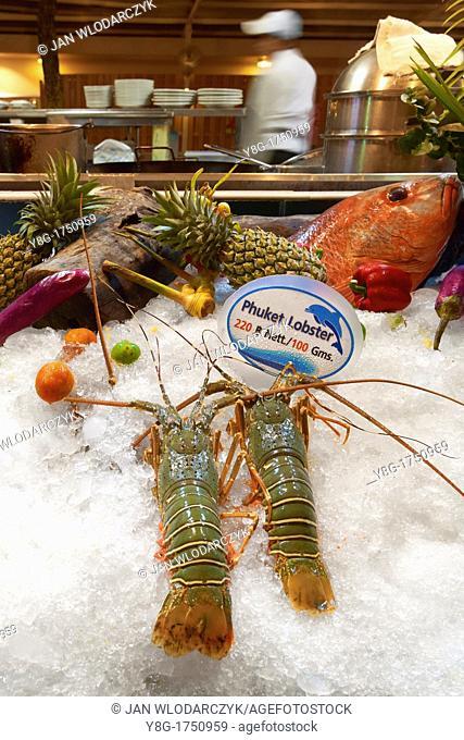 Thailand - Phuket Island, Patong Beach, sea food restaurant