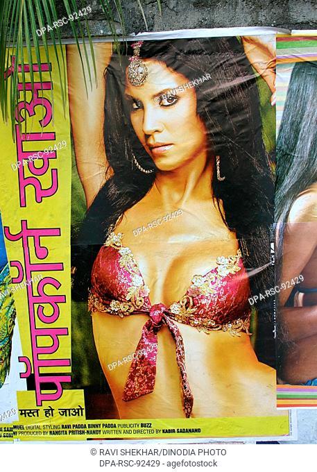Bollywood's adult film poster popcorn khao mast ho jao , Bombay Mumbai , Maharashtra , India