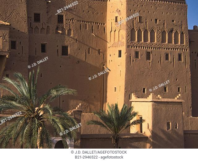 "Morocco, Ouarzazate, Kasbah Taourit, the Kasbah of the Glaoui , """"king of the South"""",.."