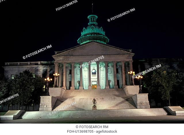 State Capitol, State House, South Carolina, Columbia, SC, The State House in the evening in the capital city of Columbia