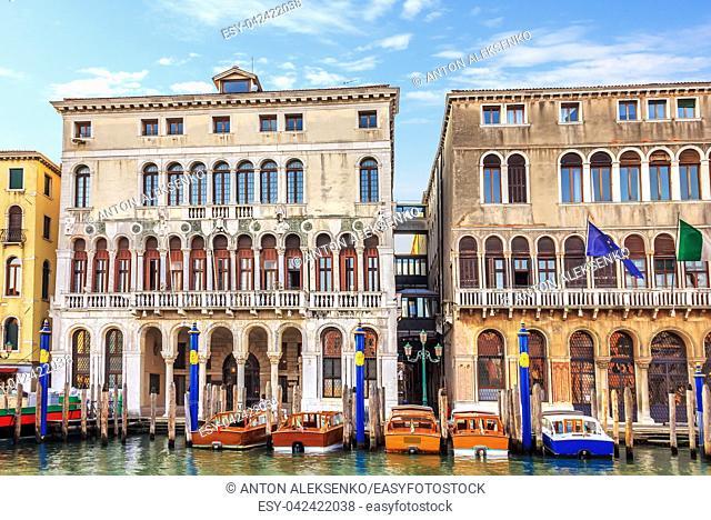Venice municipality office near Rialto Bridge, Italy