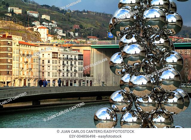 Sculpture of Anish Kapoor en the Guggenheim Museum Bilbao Vizcaya Pais Vasco Spain