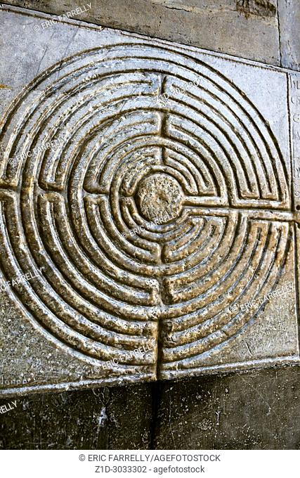 Stone labyrinth in Lucca. Tuscany
