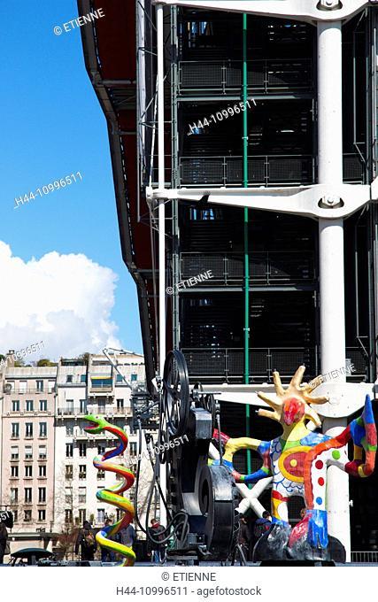 Paris, Centre Pompidou, Tinguely fountain