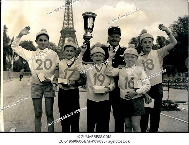 Jun. 06, 1959 - National Driving Contest For Children In Paris: The Finale of the National Driving Contest For Children was held in Paris This Afternoon
