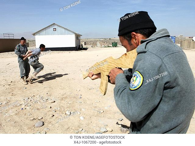 Afghan National Police being trained by ISAF/ Eupol in the trainingcentre in Tarin Kowt, Uruzgan
