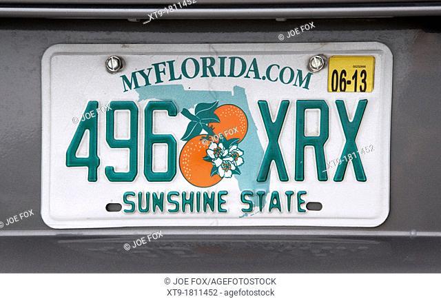 florida sunshine state license plate usa