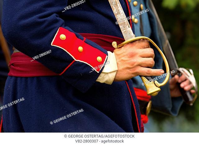 Union sword, Civil War Reenactment, Willamette Mission State Park, Oregon