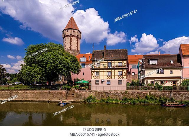 Germany, Baden-Württemberg, Main-Tauber-Region, Wertheim, Tauberufer