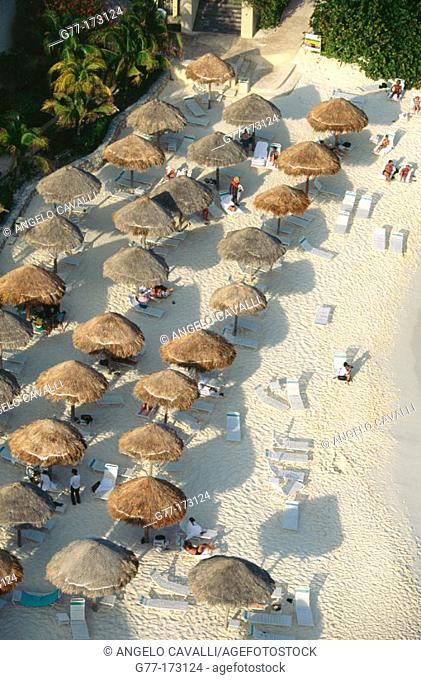 Hotel Camino Real, Cancún. Mexico. Set on four acres right at the very tip of the Yucatan Peninsula; located near the ancient Mayan city of Tulum on Punta...