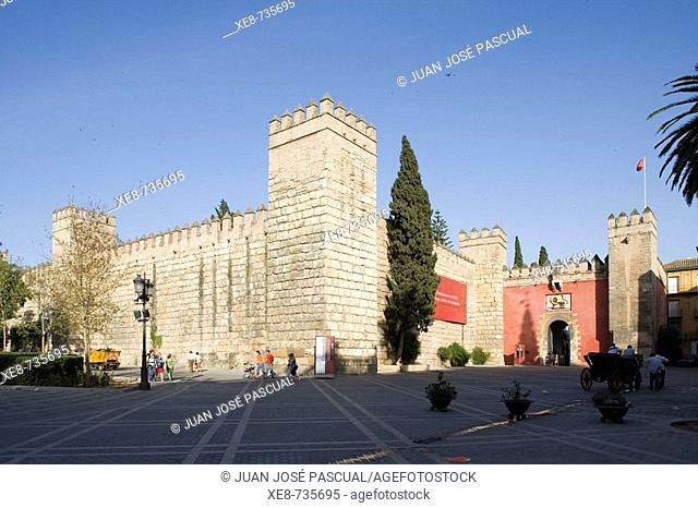 Puerta del Leon ('Gate of the Lion'), Reales Alcazares, Sevilla. Andalucia, Spain