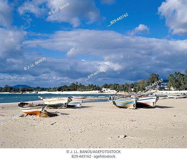 Beach at Hammamet. Tunisia