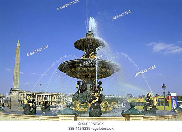 Fountains, Place de la Concorde, Paris, France