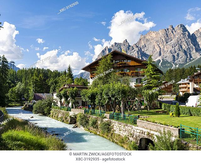 Cortina d Ampezzo in the dolomites of northern Italy. Europe, central europe, italy, veneto