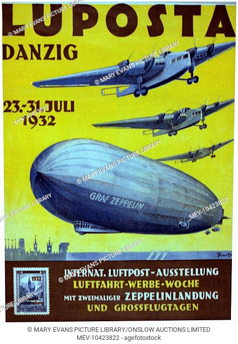 Luposta Airshow - Danzig - featuring the Graf Zeppelin - held between 23rd and 31st July, 1932