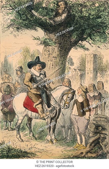 The Royal Oak, the Penderell Family have no idea where Charles is!!!, 1850. Artist: John Leech