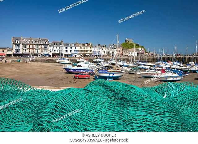 Ilfracombe harbour on the North Devon coast, UK