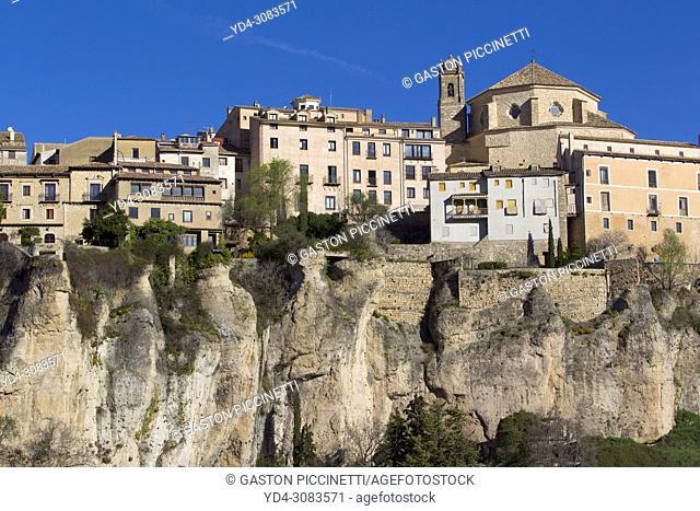 Eroded limestone outcrop in La Ciudad Encantada, The enchanted City, Park in the Serrania de Cuenca, Castilla-la Mancha, Central Spain