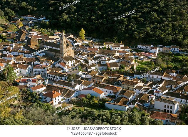 Panoramic view, Alajar, Huelva-province, Spain