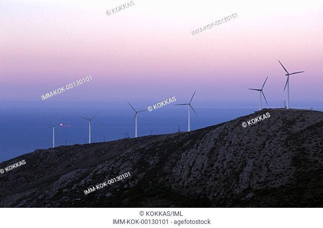 North Evia, Aeolian park wind generators  Evia, Greece