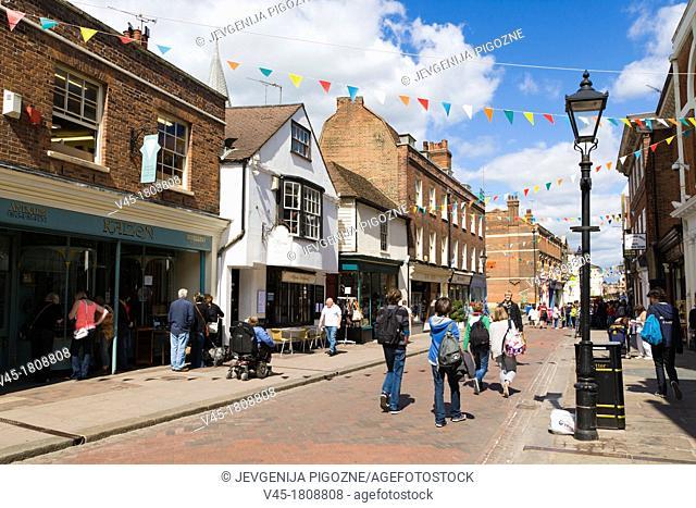 High Street, Rochester, Kent, England, UK
