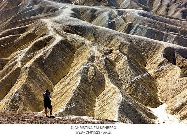 USA, Californien, Death Valley, Zabriskie Point, photographer