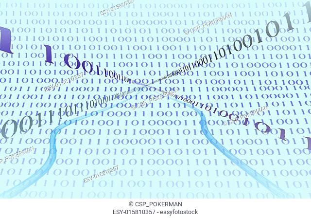 Business Graphic Binary Numbers