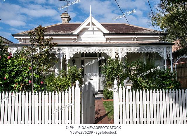 Classic late-Victorian era double-fronted timber home in suburban Elsternwick, Melbourne, Australia