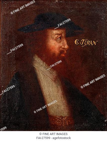 Portrait of the Danish King Christian II by Anonymous /Oil on canvas/Baroque/um 1700/Sweden/Private Collection/Portrait/Painting/Porträt von König Christian II