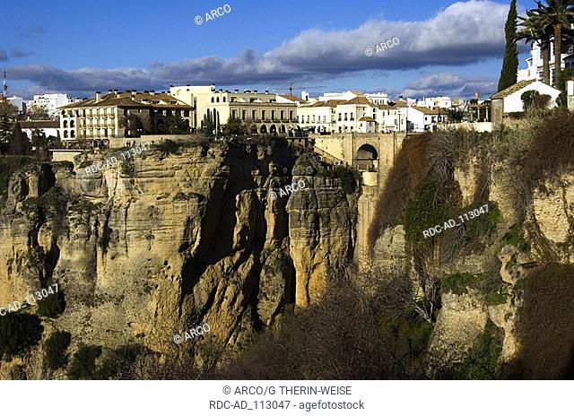 Ronda El Tajo gorge Andalusia Spain