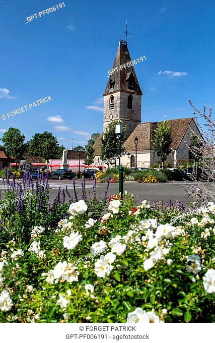 CHAUSSEE CHURCH OF IVRY, FLOWERING TOWN (28), FRANCE
