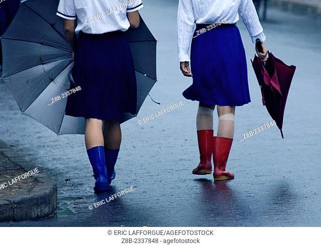 Rainy Day In North Korea