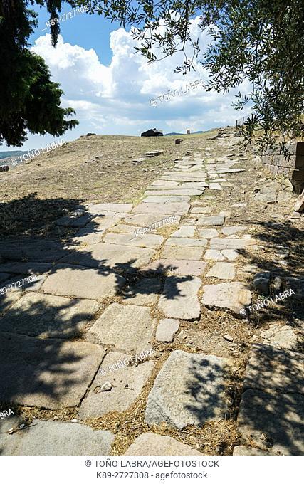 Pergamon Main Road. Ancient Greece. Asia Minor. Turkey