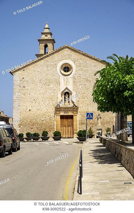 iglesia parroquial de la Mare de Déu,. Costix, Mallorca, balearic islands, Spain