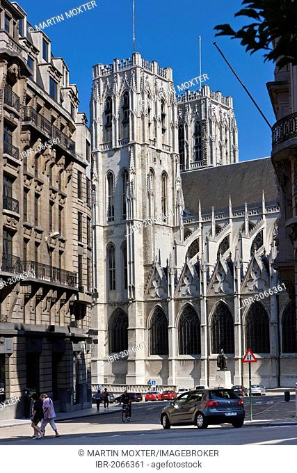 Cathedral de San Michel, St. Michael and St. Gudula Cathedral, Place Sainte-Gudule, Brussels, Belgium, Benelux, Europe