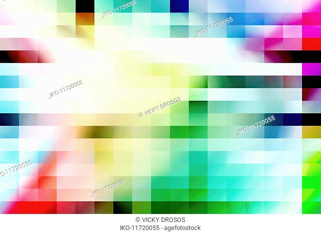 Blurred multicolor abstract squares