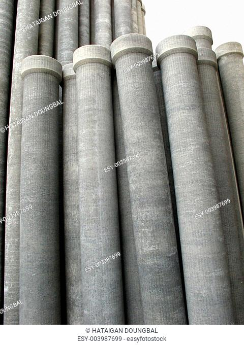 Asbestos pipes isolated