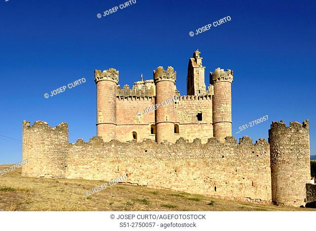 Castle, Turegano, Segovia province, Castilla-Leon, Spain
