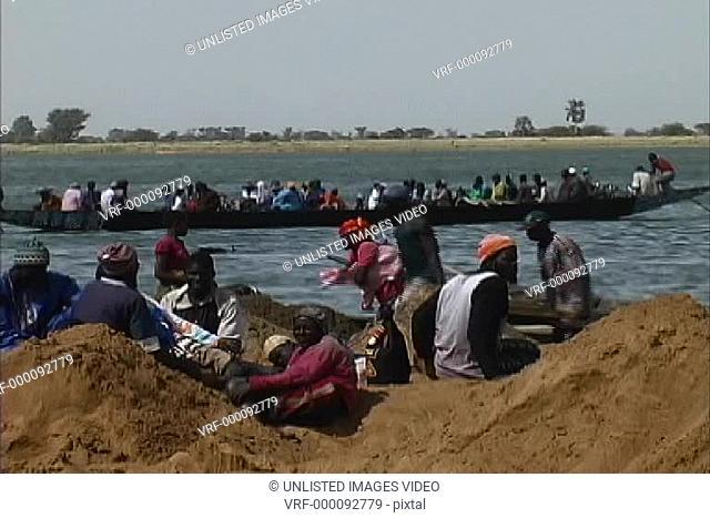 Boat on Niger River