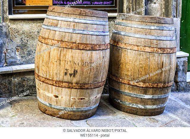 Wine Barrels, Vigo, Galicia, Spain