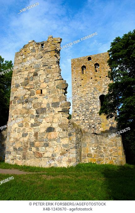 Sankt Pers church ruins in Sigtuna the oldest town in Sweden in Greater Stockholm area