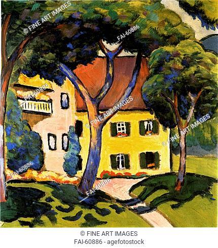 Macke, August (1887-1914). 'House in Tegernsee'. Kunstmuseum Mülheim an der Ruhr. Oil on canvas, 1910