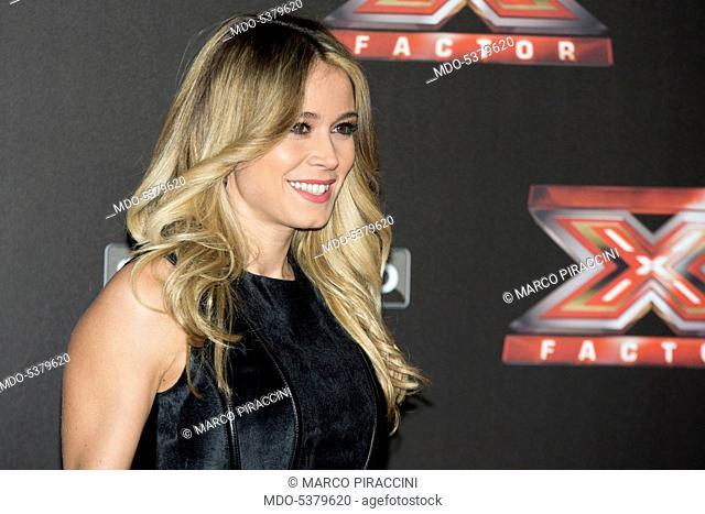 Journalist Diletta Leotta at the final live show of series 10 of X Factor at Mediolanum Forum of Assago. Assago, Italy. 15th December 2016