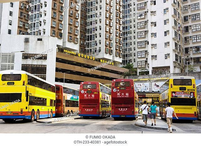 Bus terminal, Shaukeiwan, Hong Kong