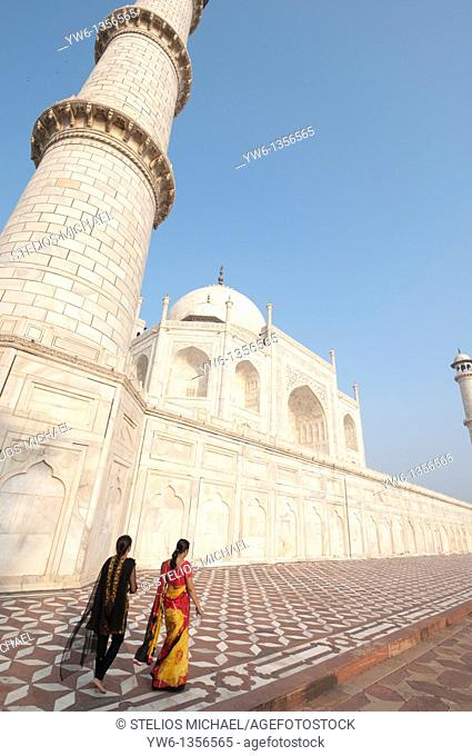 Close-up of the Taj Mahal in Agra,India